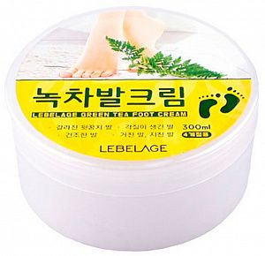 LEBELAGE Крем для ног с экстрактом зеленого чая, Green Tea Foot Cream 300 мл.