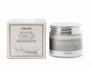 LEBELAGE Ампульный крем, выравнивающий тон лица, White Tone Up Ampule Cream 70 мл.