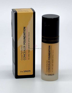 Консилер для лица The Saem 02 Cover Perfection Concealer Foundation 02 38гр