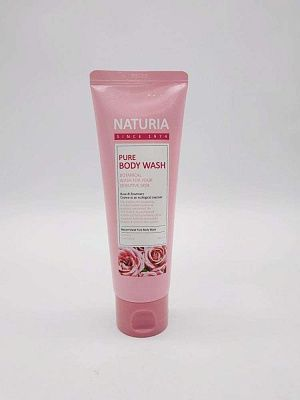 Гель для душа c экстрактом розы Naturia Pure Body Wash Rose & Rosemary 100 мл.