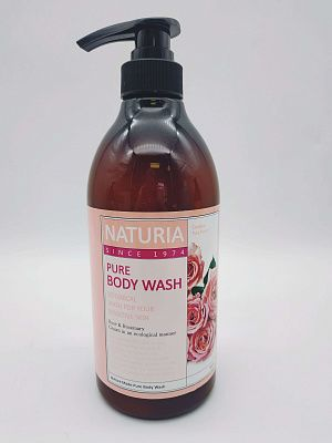 Гель для душа c экстрактом розы Naturia Pure Body Wash Rose & Rosemary 750 мл.