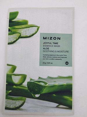Mizon Тканевая маска для лица с экстрактом сока алоэ Joyful Time Essence Mask Aloe Soothing & Moisture - 23 гр.