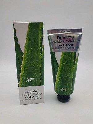 Farm Stay Крем для рук с алое  Aloe Visible Difference Hand Cream 100 гр.