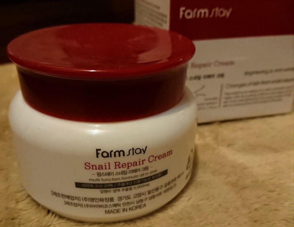 Snail Repair Cream марки FarmStay