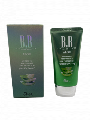 BB крем с экстрактом алоэ Ekel BB Cream Aloe SPF 50+/PA+++ 50 мл