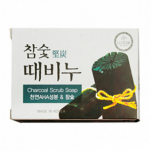 DongBang Отшелушивающее мыло с древесным углем, Charcoal Stain Remover Soap 1шт-100гр.