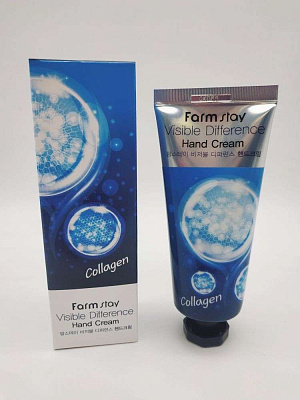 Farm Stay Крем для рук с коллагеном  Collagen Visible Difference Hand Cream 100 гр.